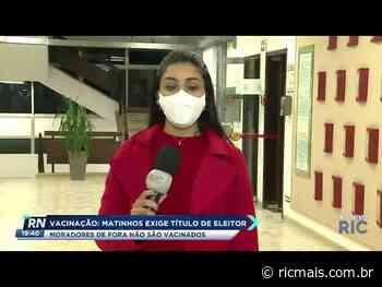 Matinhos exige título de eleitor para moradores que querem ser vacinados - RIC Mais Paraná