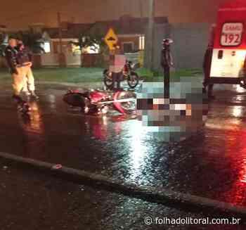 Homem morre atropelado por motocicleta ao tentar atravessar avenida em Matinhos - Folha do Litoral News