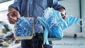 Covid-19 : le recyclage des masques jetables fait son chemin en France - FRANCE 24