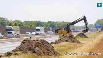 Sechsspuriger Ausbau der Autobahn: Großbaustelle auf A 1 bei Holdorf bis Frühjahr 2025 - Nordwest-Zeitung