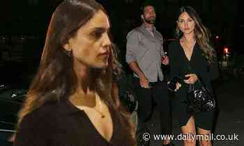 Eiza Gonzalez stuns in a sexy LBD as she introduces her boyfriend Paul Rabil to her friends in NYC