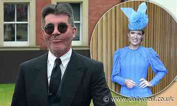 Simon Cowell looks dapper  while Charlotte Hawkins dazzles as they lead the stars at Royal Ascot