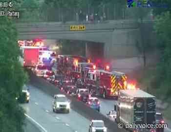 Car Flies Off I-83 In Harrisburg, Landing Near Train - Daily Voice