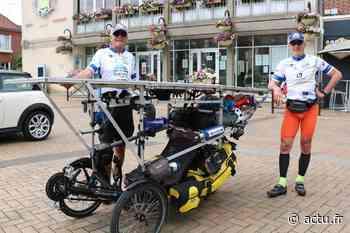 Deux cyclistes de passage à Grandvilliers couvrent 750 km sur des vélos solaires - actu.fr