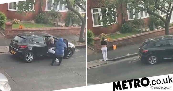 'Traumatised' mum dragged from car by armed robbers as baby sat in back seat