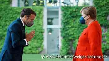 Stippvisite in Berlin: Macron zu Gast bei Merkel