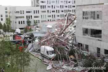 Antwerpse basisschool in opbouw stort deels in: vijf mensen vermist, één dode