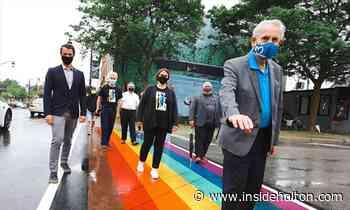 Milton officially unveils rainbow crosswalks in celebration of Pride month - InsideHalton.com