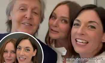 Stella and Mary McCartney sing 'Happy Birthday' to father Sir Paul as they mark his 79th birthday