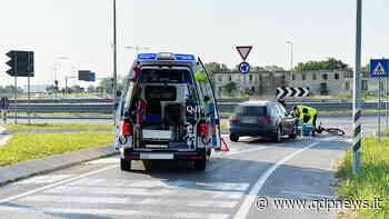 Conegliano, bici urtata da un'auto sull'attraversamento pedonale: nessuna conseguenza grave per il ciclista - Qdpnews