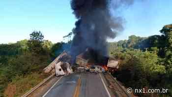 Dois caminhoneiros morrem queimados após grave acidente envolvendo cinco veículos em rodovia; VEJA VÍDEO - NX1