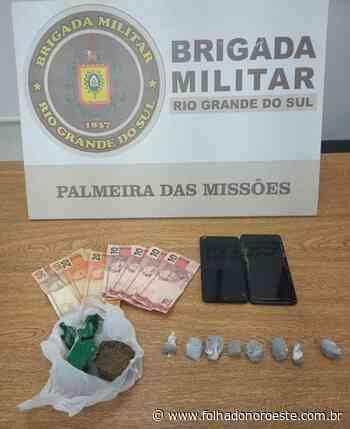 Homem é preso e droga apreendida em Palmeira das Missões - Jornal Folha do Noroeste