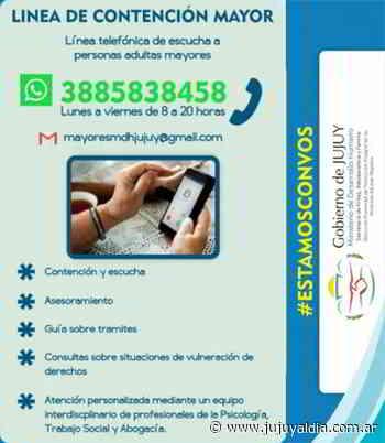Línea telefónica de Contención Mayor - Jujuy al día