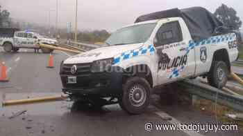 Salió a probar una camioneta de la Policía de Jujuy y chocó - todojujuy.com