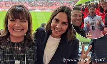 Euro 2020: Mel C, Lorraine Kelly and Mark Wright lead stars cheering at England and Scotland game