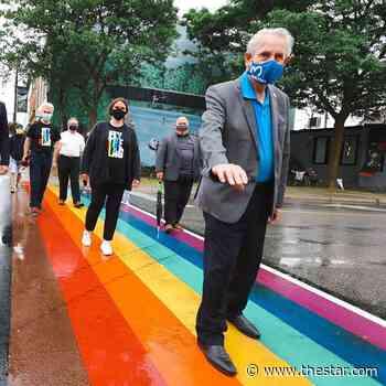 Milton officially unveils rainbow crosswalks in celebration of Pride month - Toronto Star