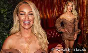 Katie Piper highlights her incredible figure in a bardot mini dress at Cabaret All Stars