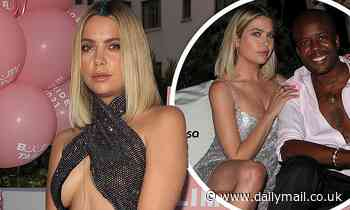 Ashley Benson flaunts her underboob before stunning in silver sparkles at Booby Tape's Pride event