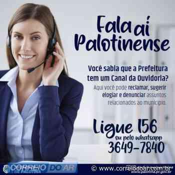 Ouvidoria de Palotina conta com linha telefônica gratuita através do 156 e número telefônico com WhatsApp para atendimento à população - Correio do Ar