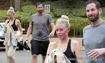 Tarek El Moussa and Heather Rae Young seen leaving a hot yoga studio as she calls him her 'husband'