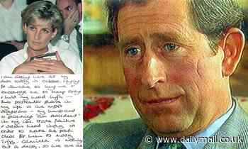 Charles was asked about Princess Diana note' to Paul Burrell alleging the Prince wanted her dead