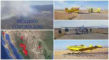 ¡Con flota aérea y sin lluvias! Eliminaron incendio de Casas Grandes - El Tiempo de México