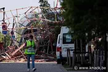 Instorting in Antwerpen: reddingsactie gaat de nacht in