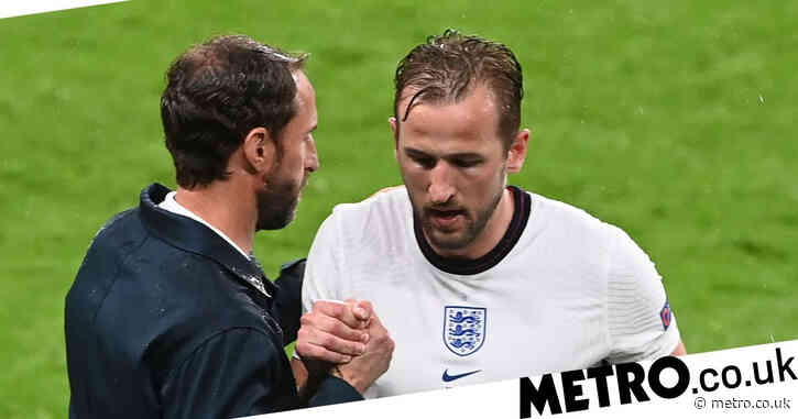 Harry Kane reacts to being subbed in England's Euro 2020 stalemate against Scotland