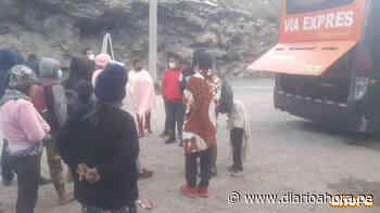 Ayudan a pasajeros varados en la Oroya - DIARIO AHORA