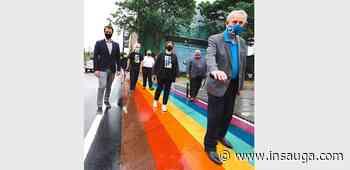 Milton streets brighten up with unveiling of downtown rainbow crosswalks - insauga.com