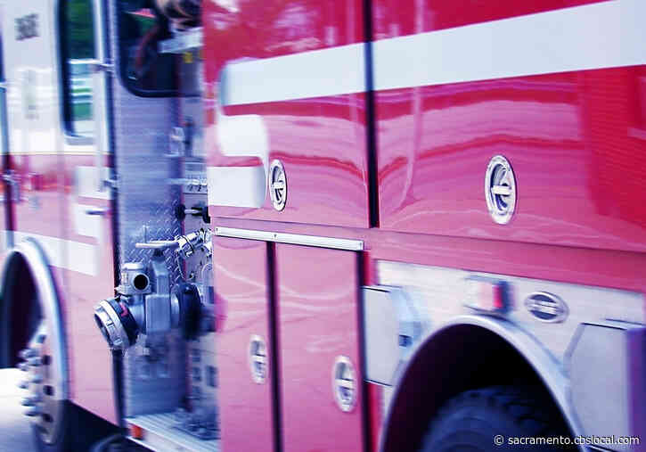 Firefighters Battling 15-Acre Fire In Vineyard Area Near Bradshaw Road