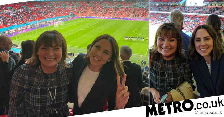 Euro 2020: Lorraine Kelly and Mel C strike up friendly rivalry as they watch England vs Scotland together at Wembley