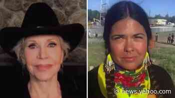 Activists Jane Fonda, Tara Houska battle Line 3 pipeline that could harm tribal lands, environment - Yahoo News