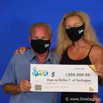 Burlington couple wins $1 million Lotto Max draw - Toronto Star