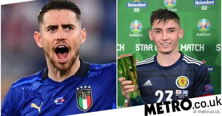 Jorginho and Christian Pulisic praise Chelsea teammate Billy Gilmour after Scotland's draw with England at Euro 2020