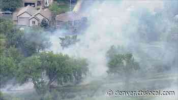 Crews Fight Fire Burning Near Homes In Arvada