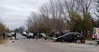 Violento accidente en el ingreso de Santa Rosa del Conlara - Vía País