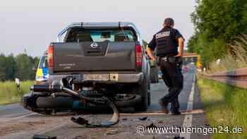 Gotha: Schrecklicher Unfall! Motorradfahrer (59) schwer verletzt - Thüringen24