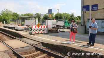 Bauarbeiten am Bahnhof Lauchhammer: Scheitert die Modernisierung des Bahnhofs Lauchhammer an der Barrierefreiheit? - Lausitzer Rundschau