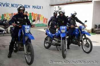Motociclistas Guarda Municipal reforçam o patrulhamento nas ruas de Feira de Santana - Acorda Cidade