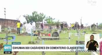 Municipalidad de Iquitos exhuma 800 cadáveres de cementerio clandestino - Diario Correo
