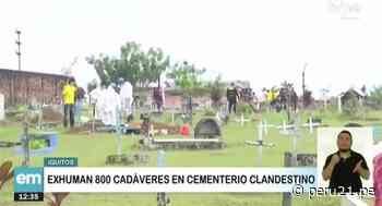 Exhuman 800 cadáveres de cementerio clandestino en Iquitos - Diario Perú21