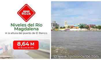 Mantienen alerta roja por creciente del río Magdalena en El Banco - Opinion Caribe