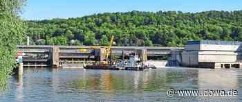 Hochwasserschutz - Regensburgs Donau-Wehr für Revision trockengelegt - idowa