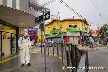 Operativo de desinfección en el centro comercial Munro - SMnoticias