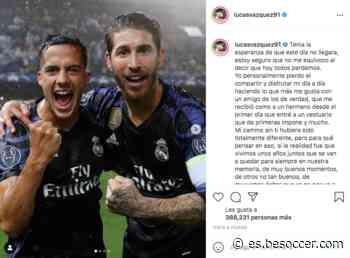 Lucas, triste por Ramos: 'Tenía la esperanza de que este día no llegara' - BeSoccer