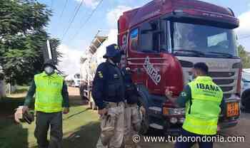 Em Porto Velho/RO, PRF e IBAMA realizam operação conjunta - Tudo Rondônia