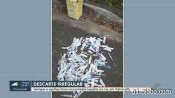 Moradora encontra descarte irregular de seringas em Valinhos; VÍDEO - G1