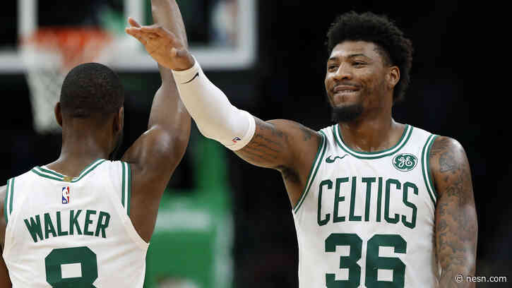 Marcus Smart Bids Farewell To Kemba Walker After Celtics-Thunder Trade