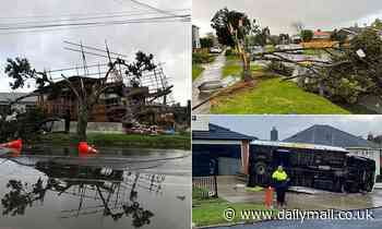 Violent tornado strikes the city of Auckland in New Zealand